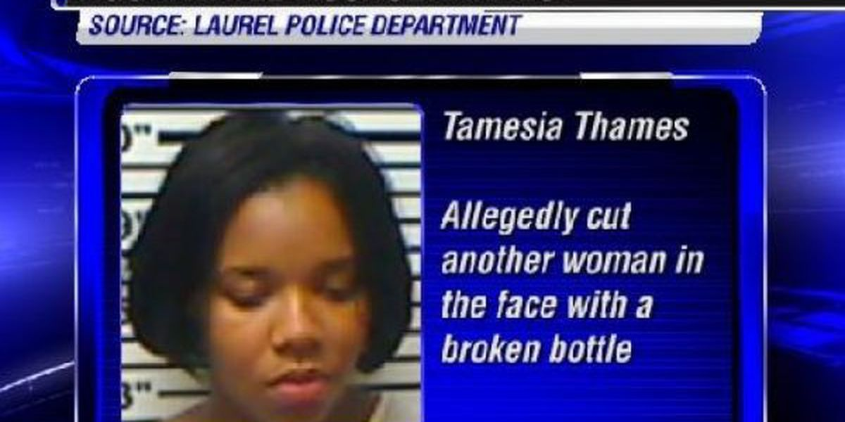 Laurel woman arrested for allegedly cutting another woman with broken bottle