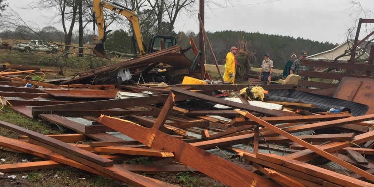 NWS releases damage survey for EF-2 tornado that struck Simpson, Smith counties