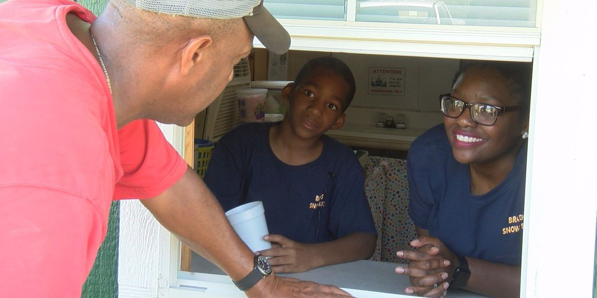 Good News: MS boy opens snowball stand to pay for college