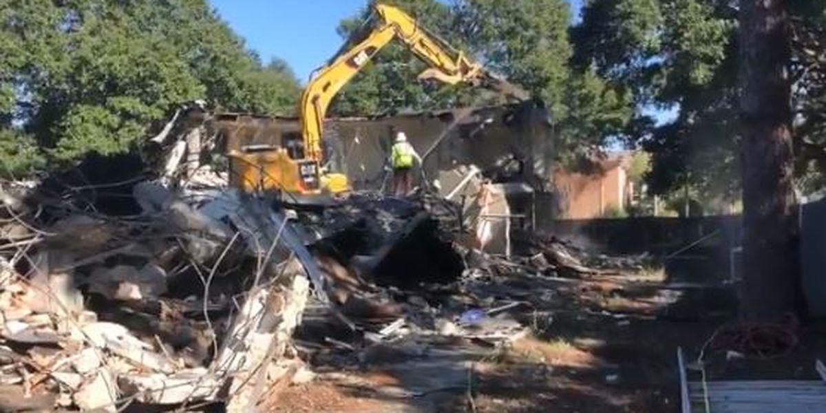 Demolition begins on USM's Pinehaven Apartments