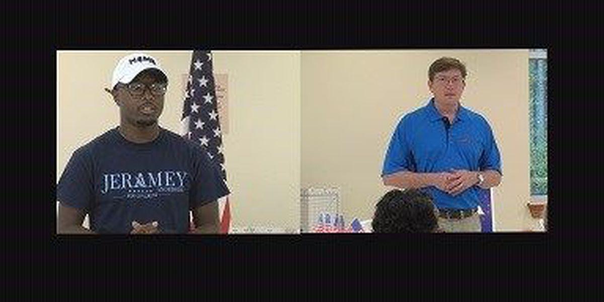 Democratic candidates Baria, Anderson, campaign in Lamar County