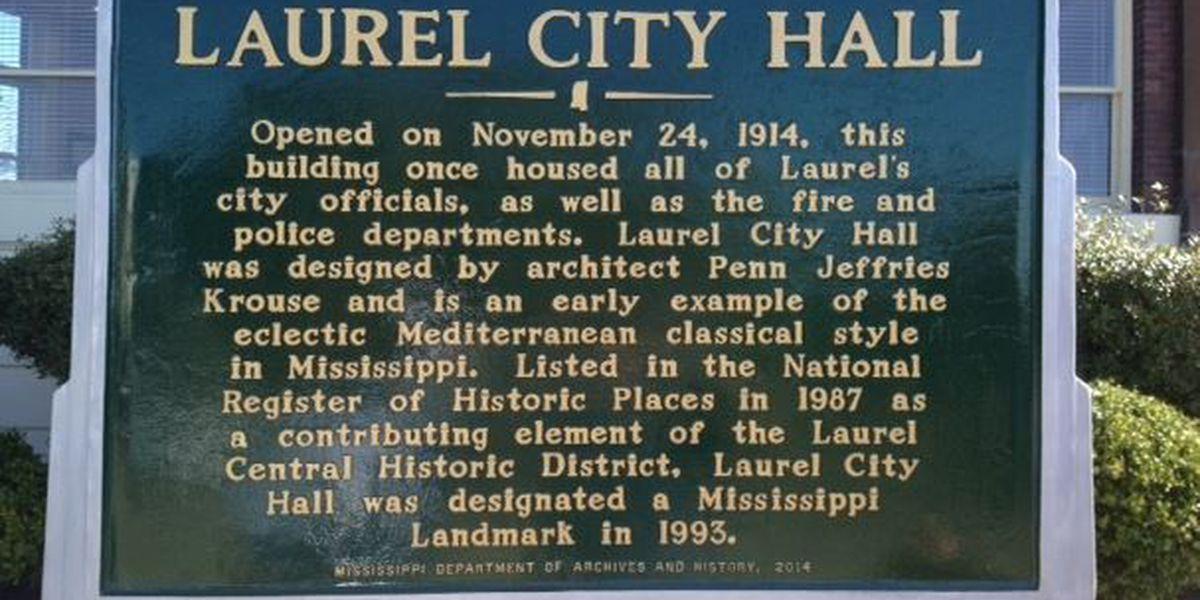 Laurel dedicates a historical marker