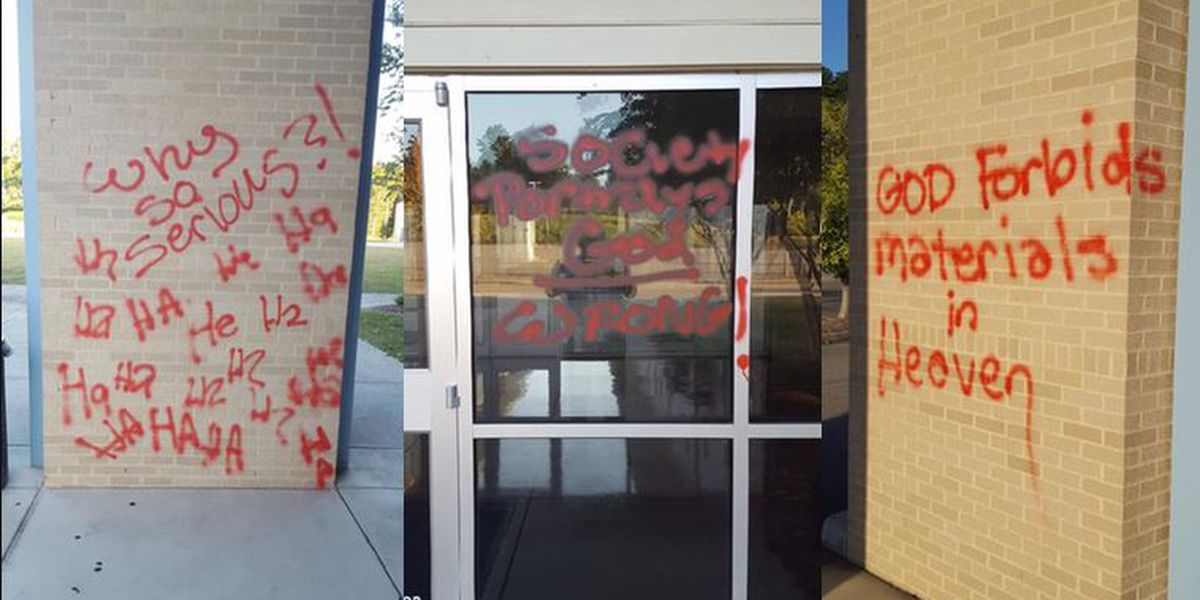 Hattiesburg church vandalized with graffiti