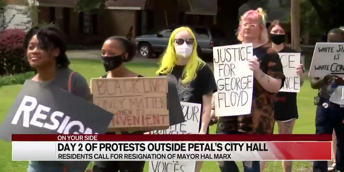 Day 2: Protesters calling for resignation of Petal Mayor Hal Marx