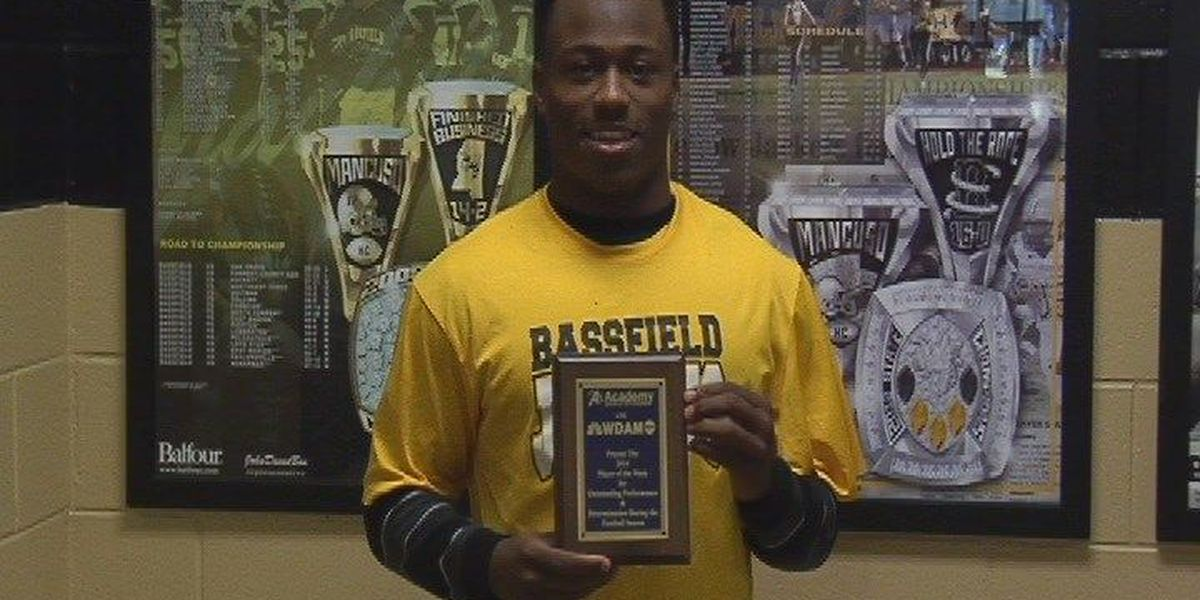 Bassfield's Daniels awarded player of the week