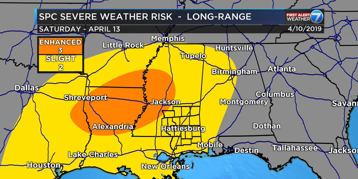 First Alert: Storms likely, severe weather possible Saturday