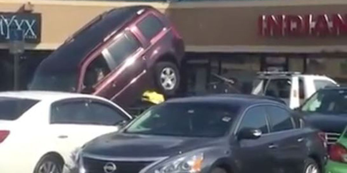 VIDEO: Man tries to get out of being towed