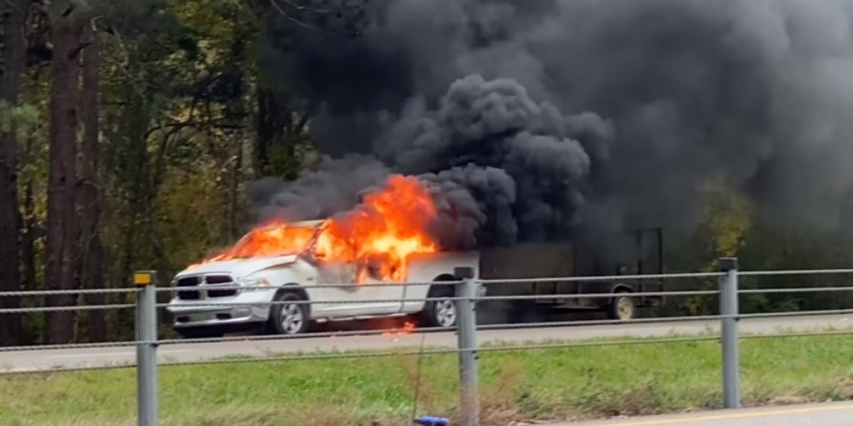 Ellisville truck fire sends one person to hospital