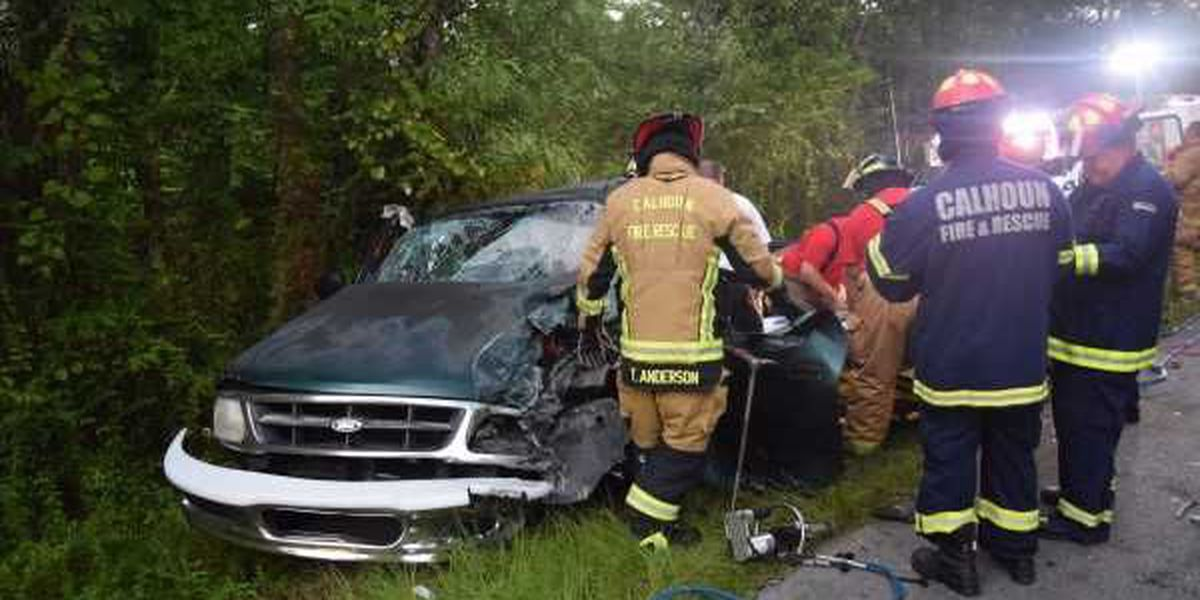 One person rescued from vehicle after head-on collision in Jones County