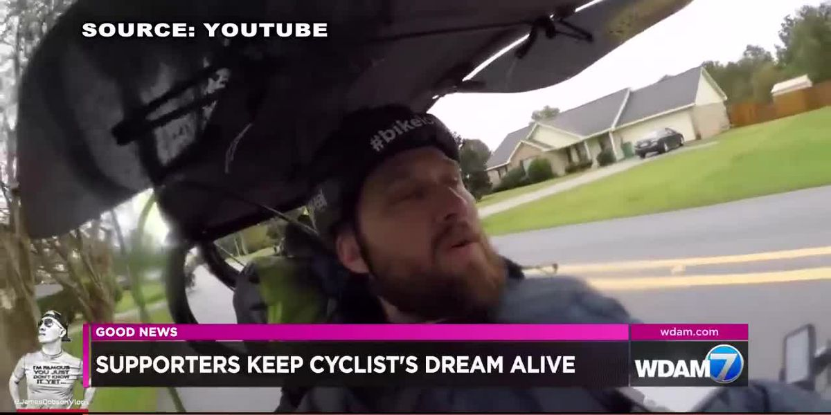 GOOD NEWS: Supporters help cyclist's dream to raise money for cancer stay alive