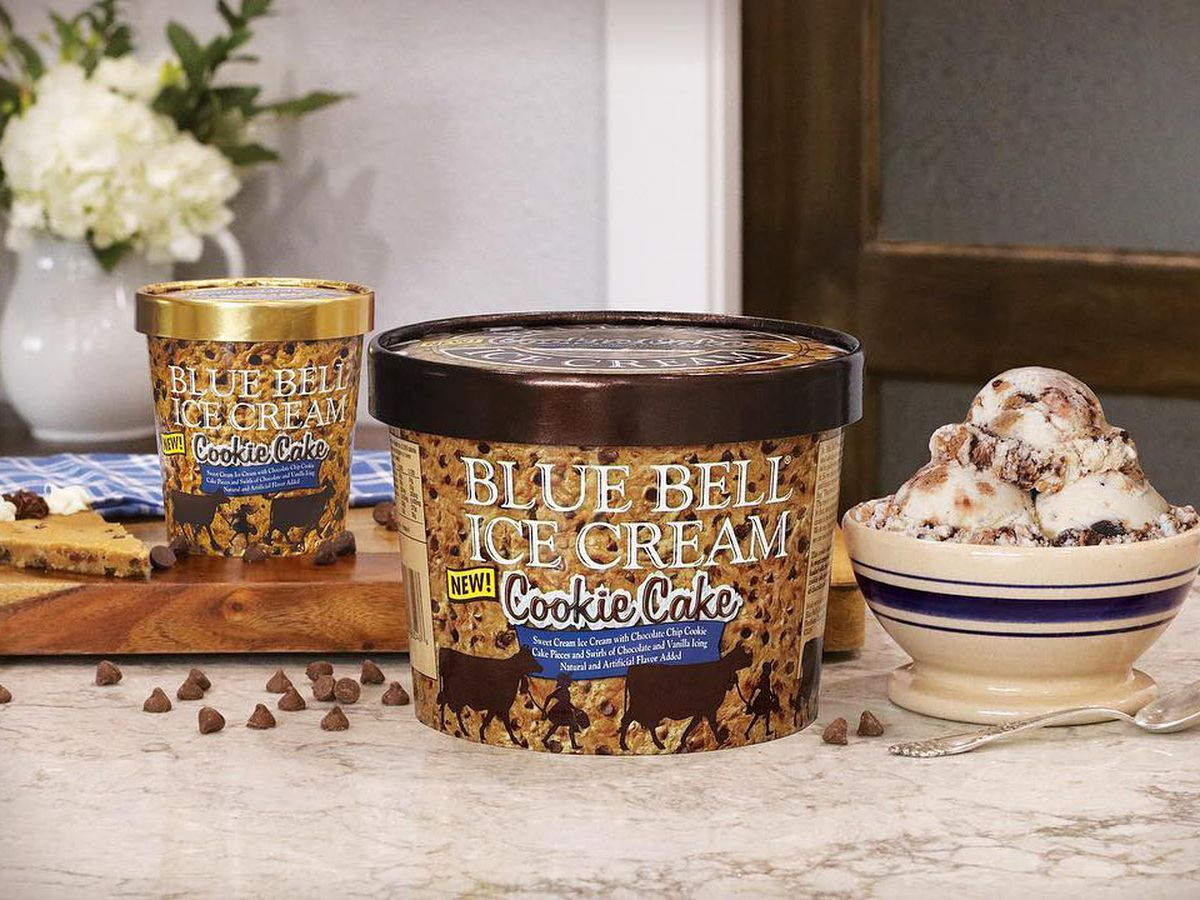 Blue Bell Cookie Cake ice cream hits store shelves