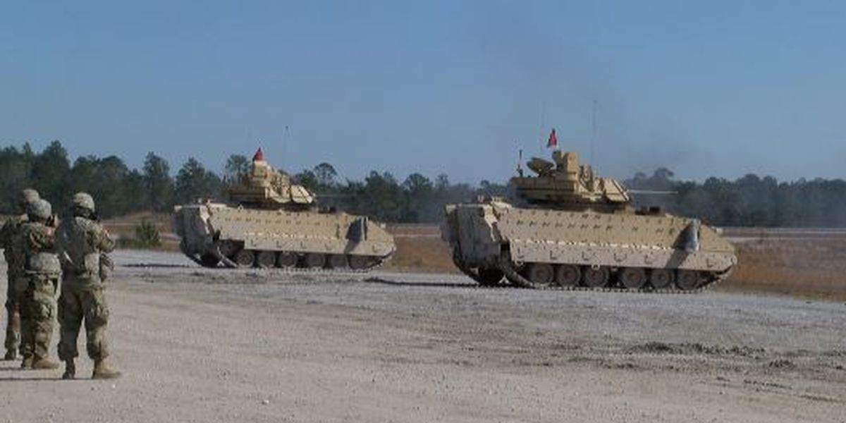 Soldiers at Camp Shelby train ahead of mobilization