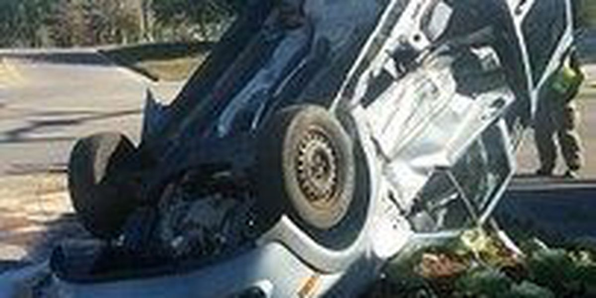 Rollover wreck sends one to hospital in Hub City