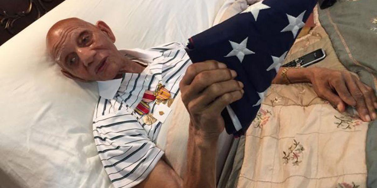 Terminally ill World War II Veteran receives service medals