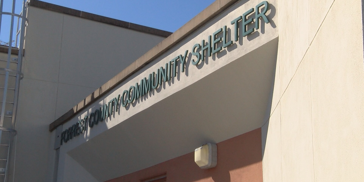 People escaping cold by using Forrest County Community shelter