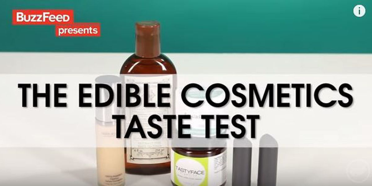 Tasting the edible side of make-up