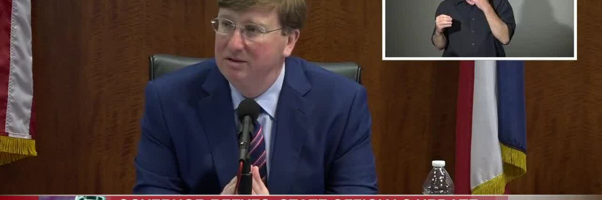 Governor Tate Reeves discusses latest efforts to combat COVID-19 in Miss.