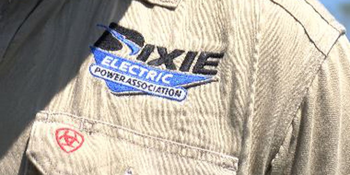 Dixie Electric works to restore power to hundreds of homes