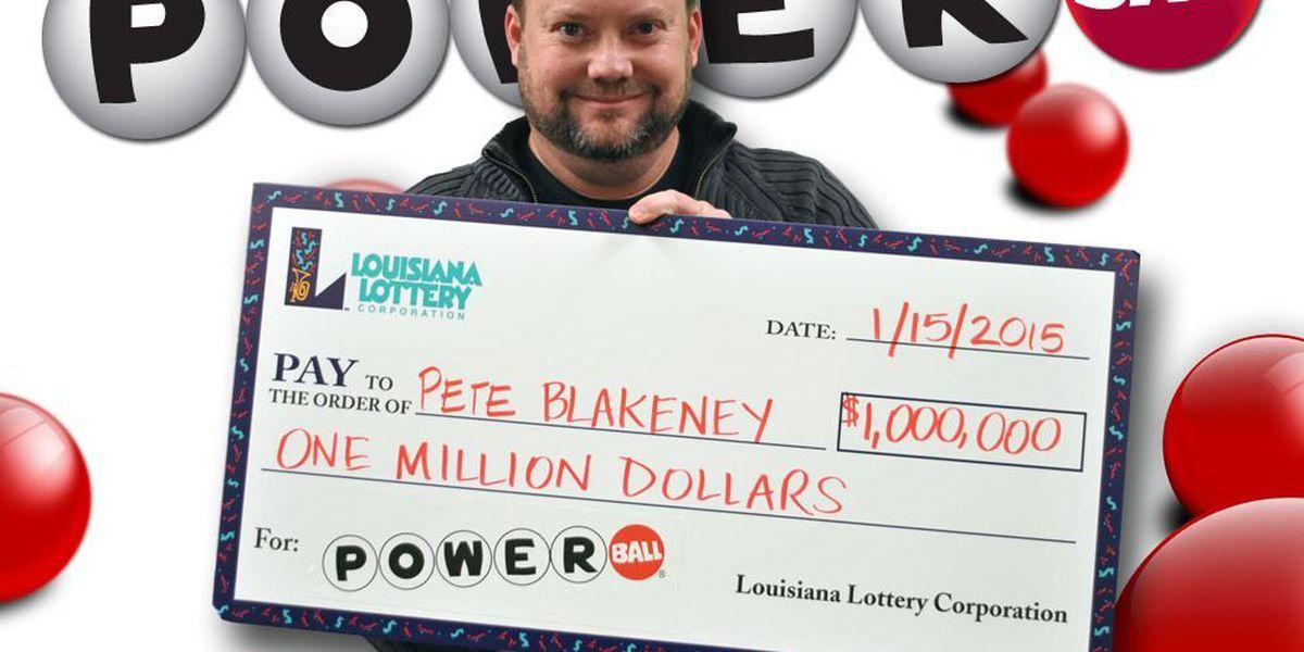 Laurel resident wins Louisiana's $1 million Powerball Prize of 2015