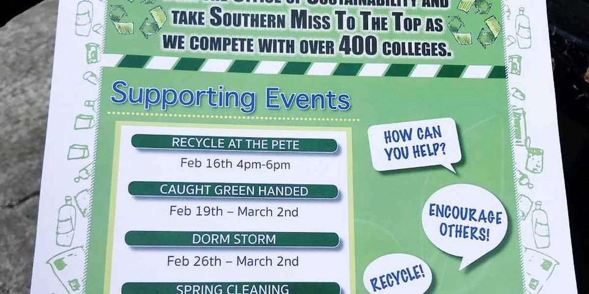 Southern Miss participates in Recycle Mania