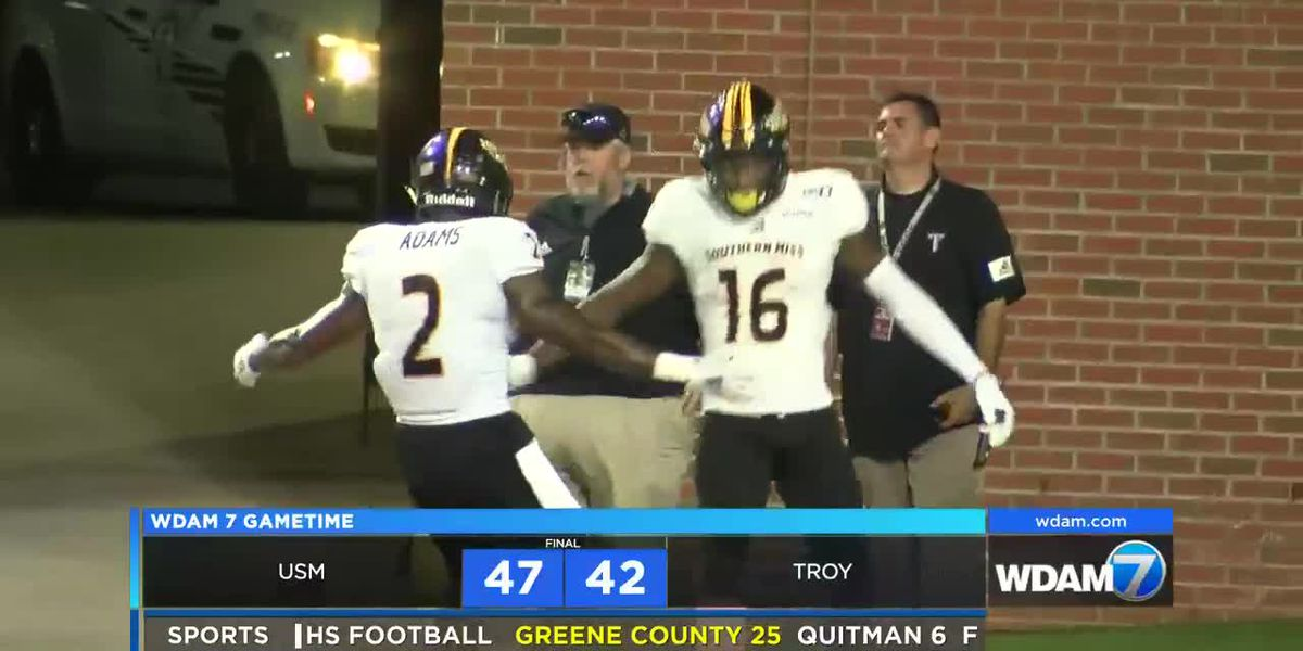 Southern Miss holds on to defeat Troy, 47-42