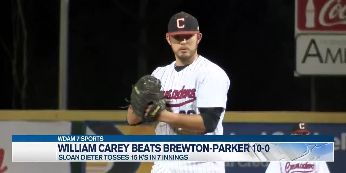Carey baseball sweeps Brewton-Parker