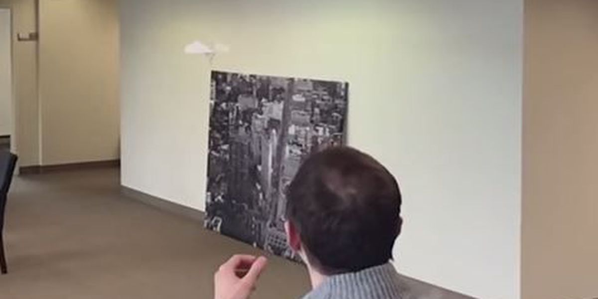 VIDEO: Man masters the art of the paper airplane