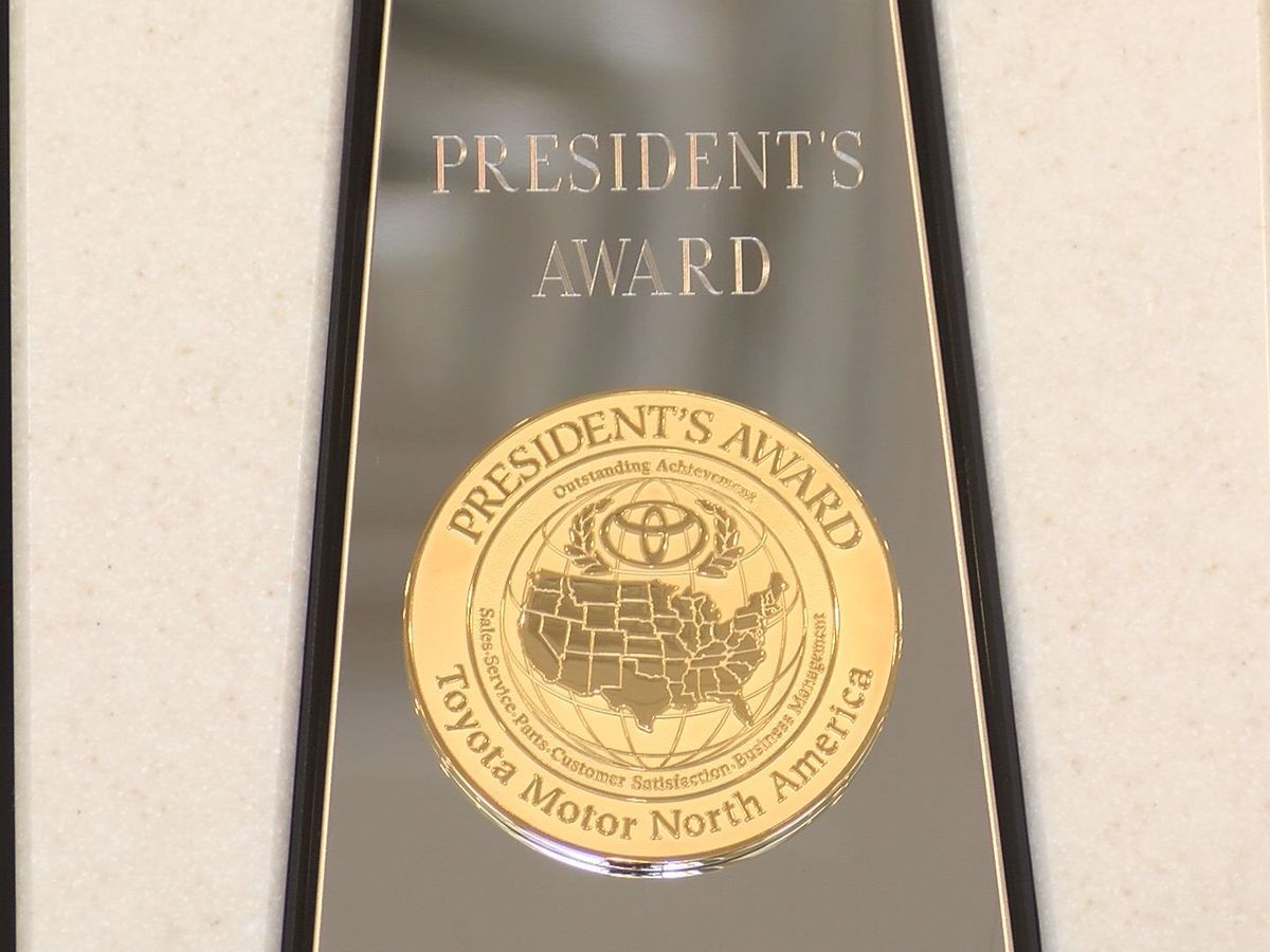 Toyota of Hattiesburg receives President's Award