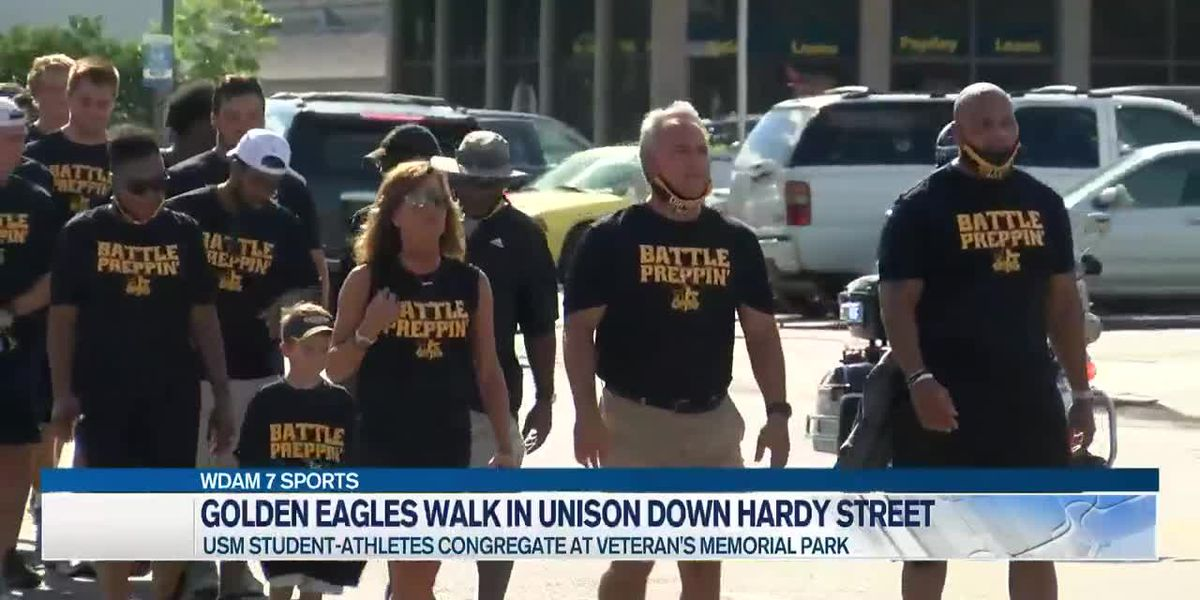 Golden Eagles march in unity Thursday