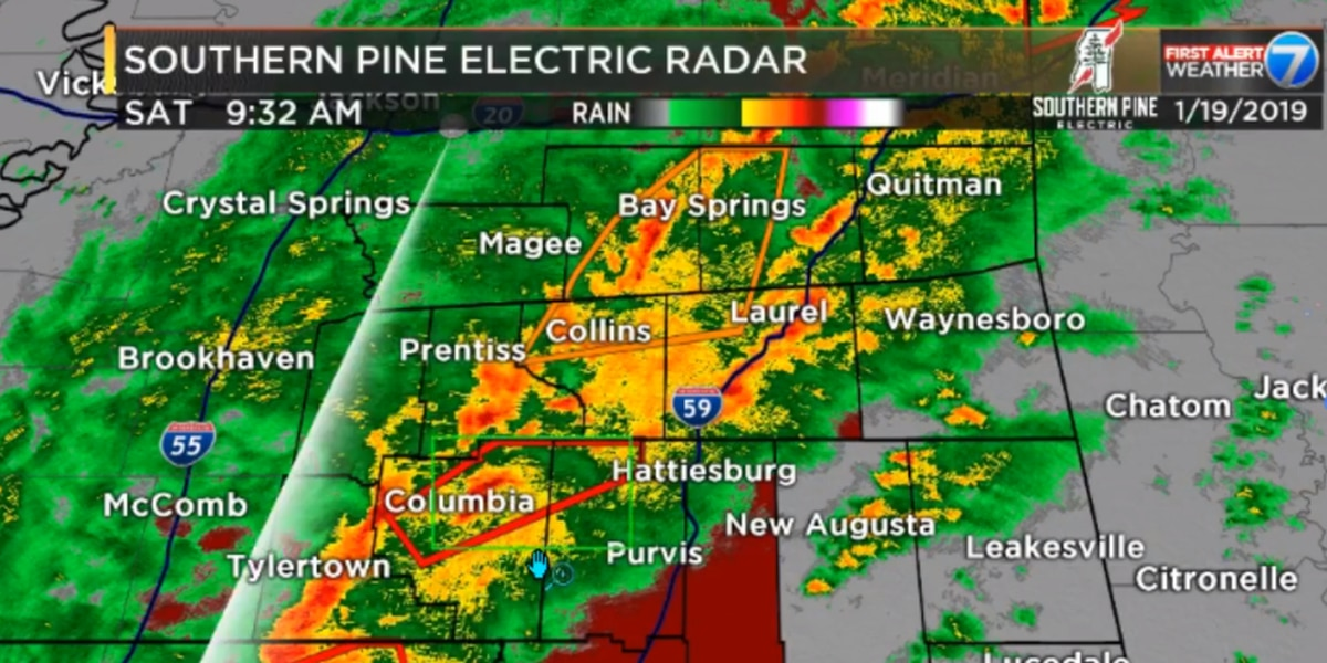 First Alert: Tornado warning issued for parts of Marion, Lamar counties