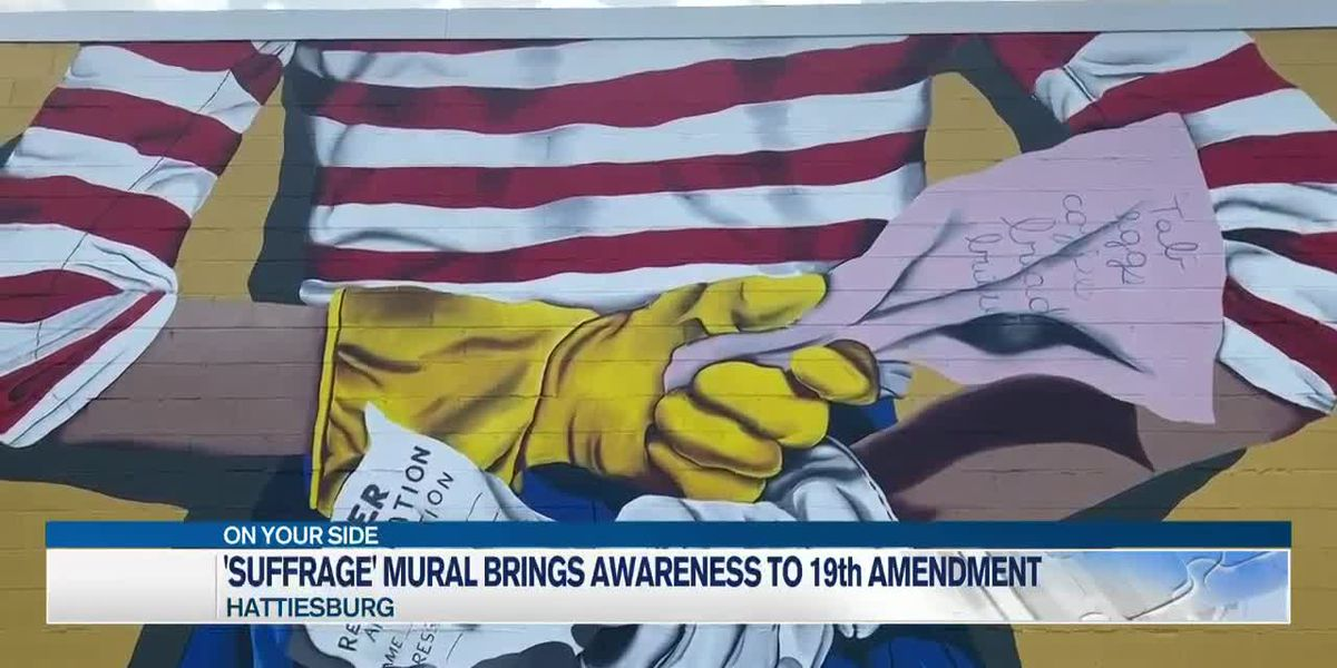 'Suffrage' mural brings awareness to 100th anniversary of the 19th amendment