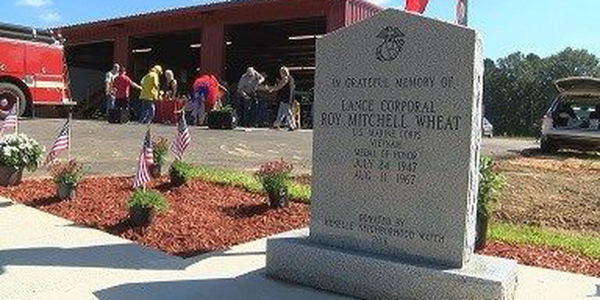 Moselle Fire Hall has new monument honoring Medal of Honor recipient Wheat