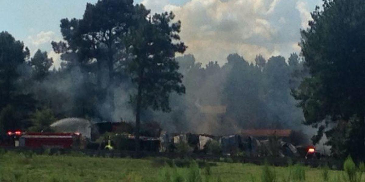 Farm catches fire in Jones County