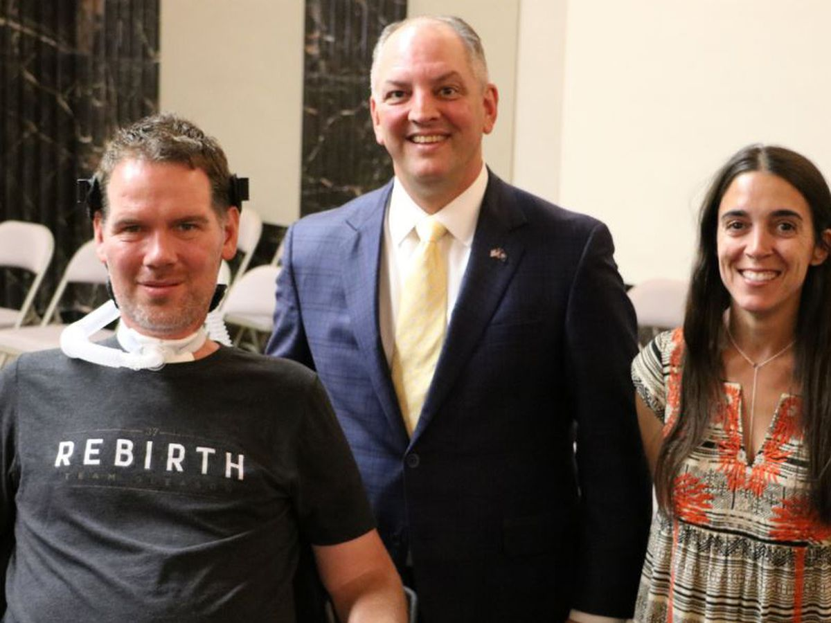 Former Saints star Steve Gleason presented with Congressional Gold Medal
