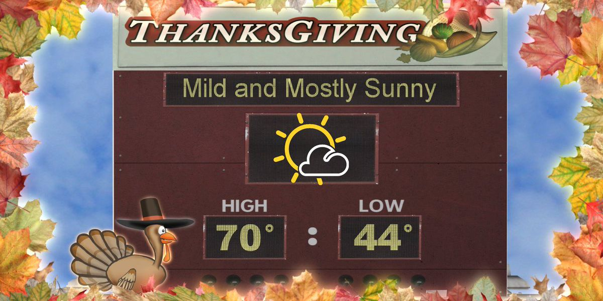 First Alert: Your first look at the Thanksgiving Day forecast