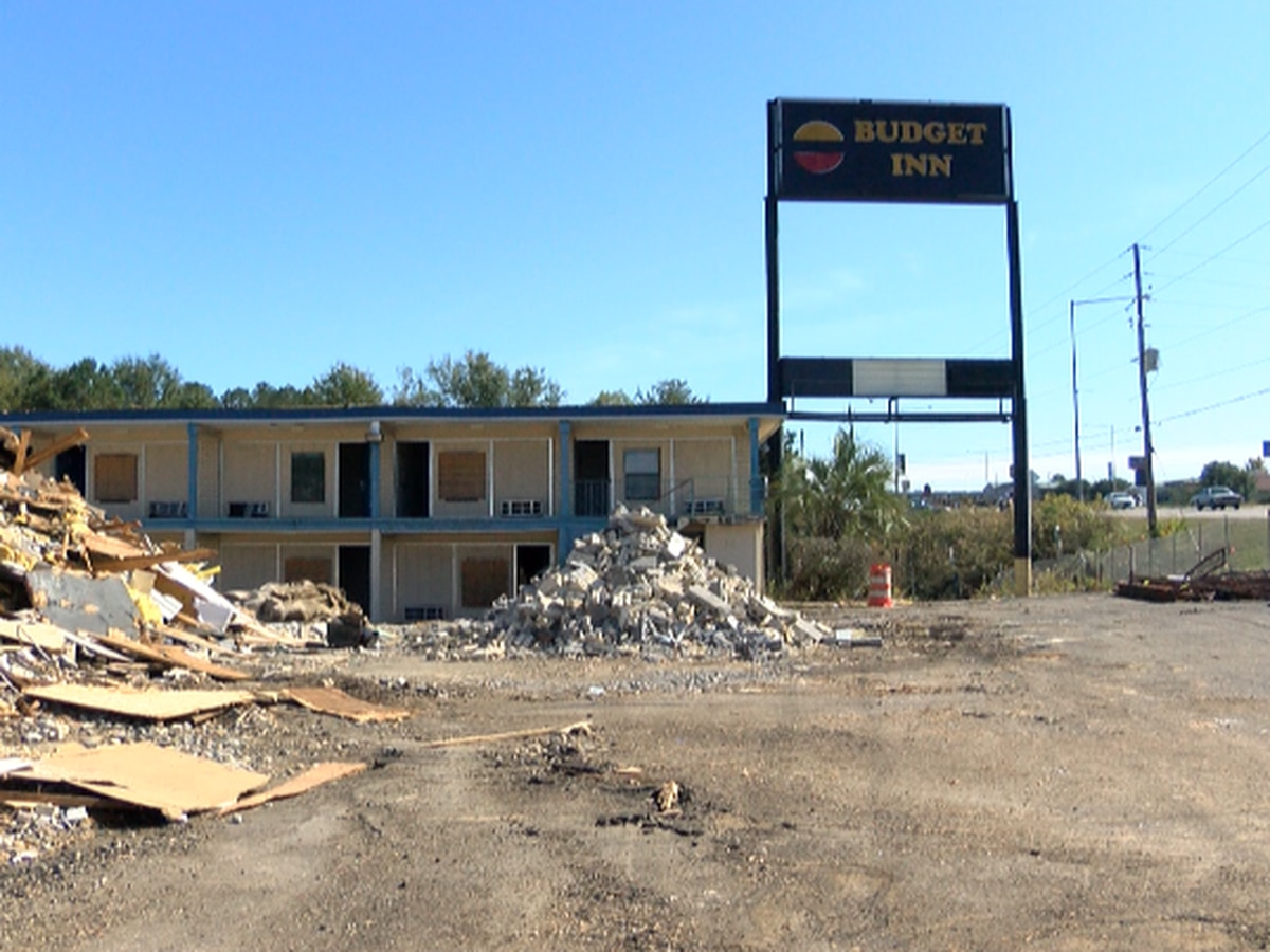 Budget Inn on Highway 49 is being demolished