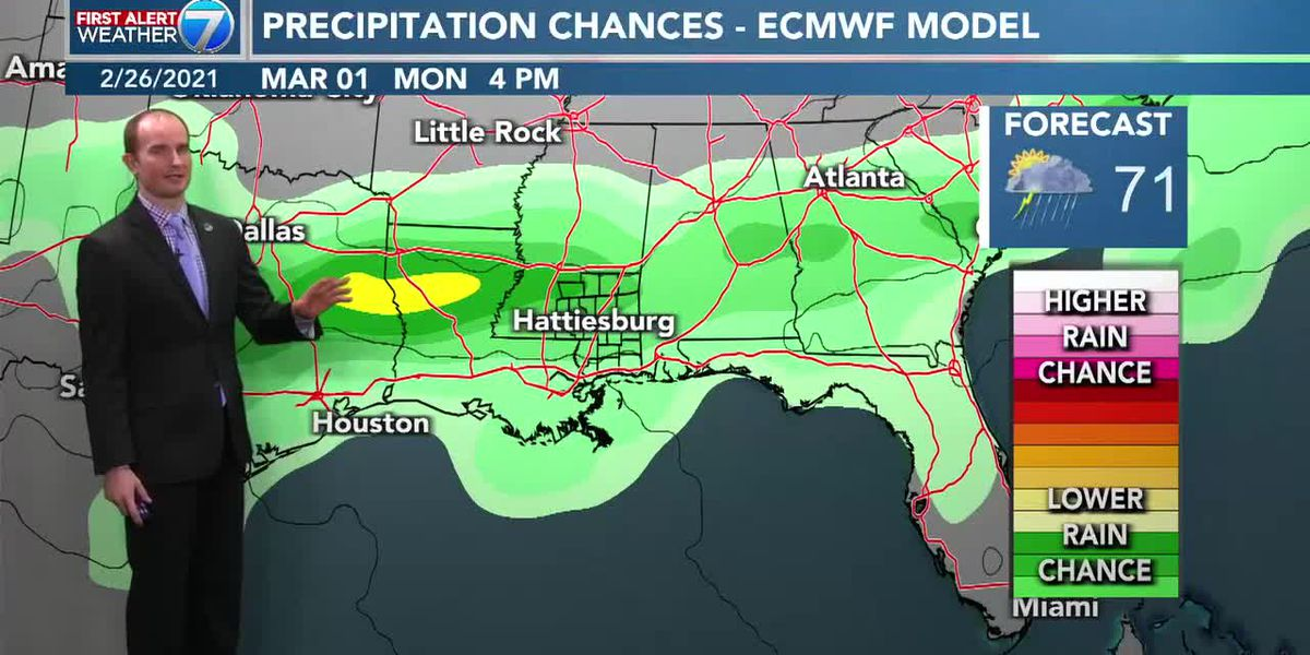 Mostly cloudy this weekend with chance for rain
