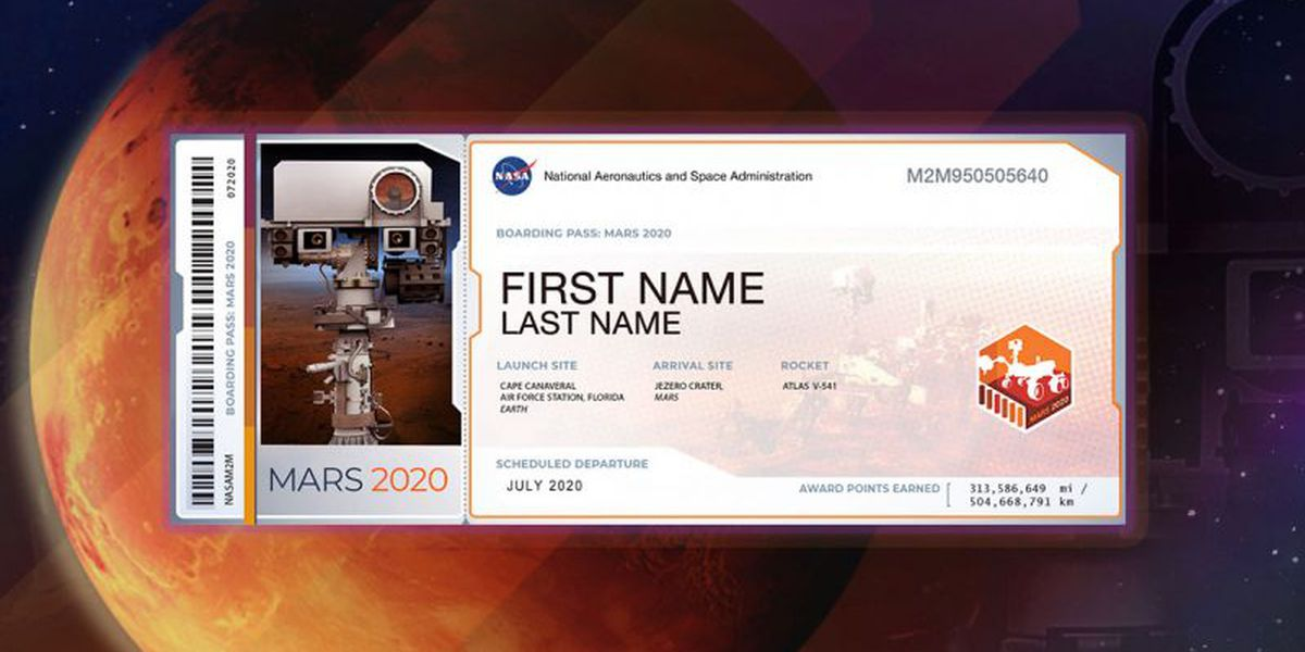 Your name can go to Mars, but you must act now