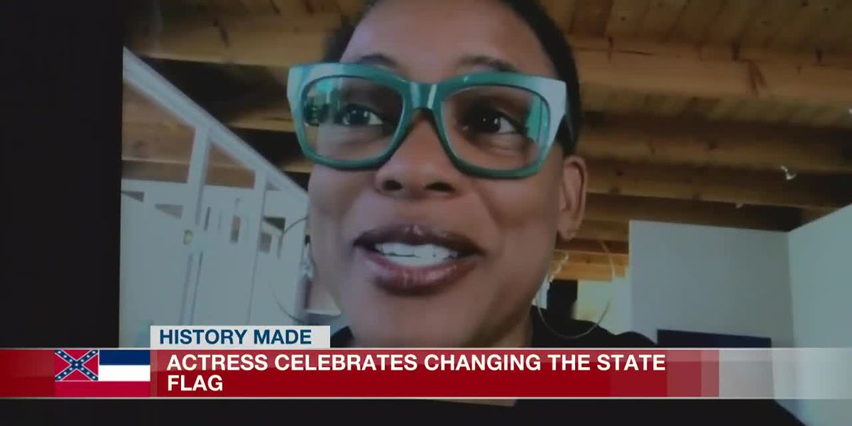 'I never thought I'd see the day that this would happen;' Miss. actress celebrates state flag change