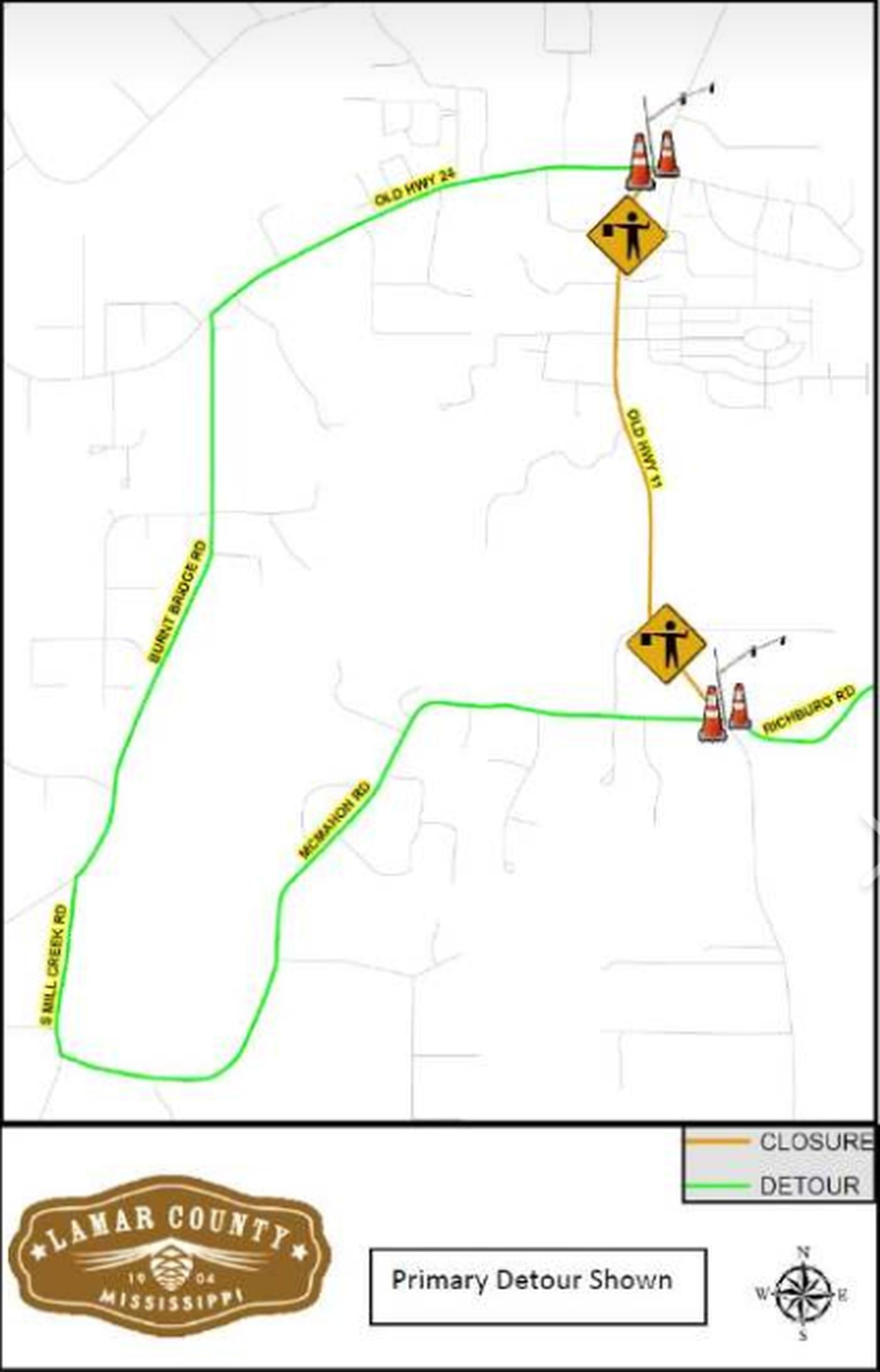 Lamar County road work to close parts of Old Hwy 11 over ...