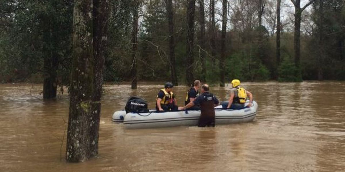 Rescue team saves rescue team after boat overturns