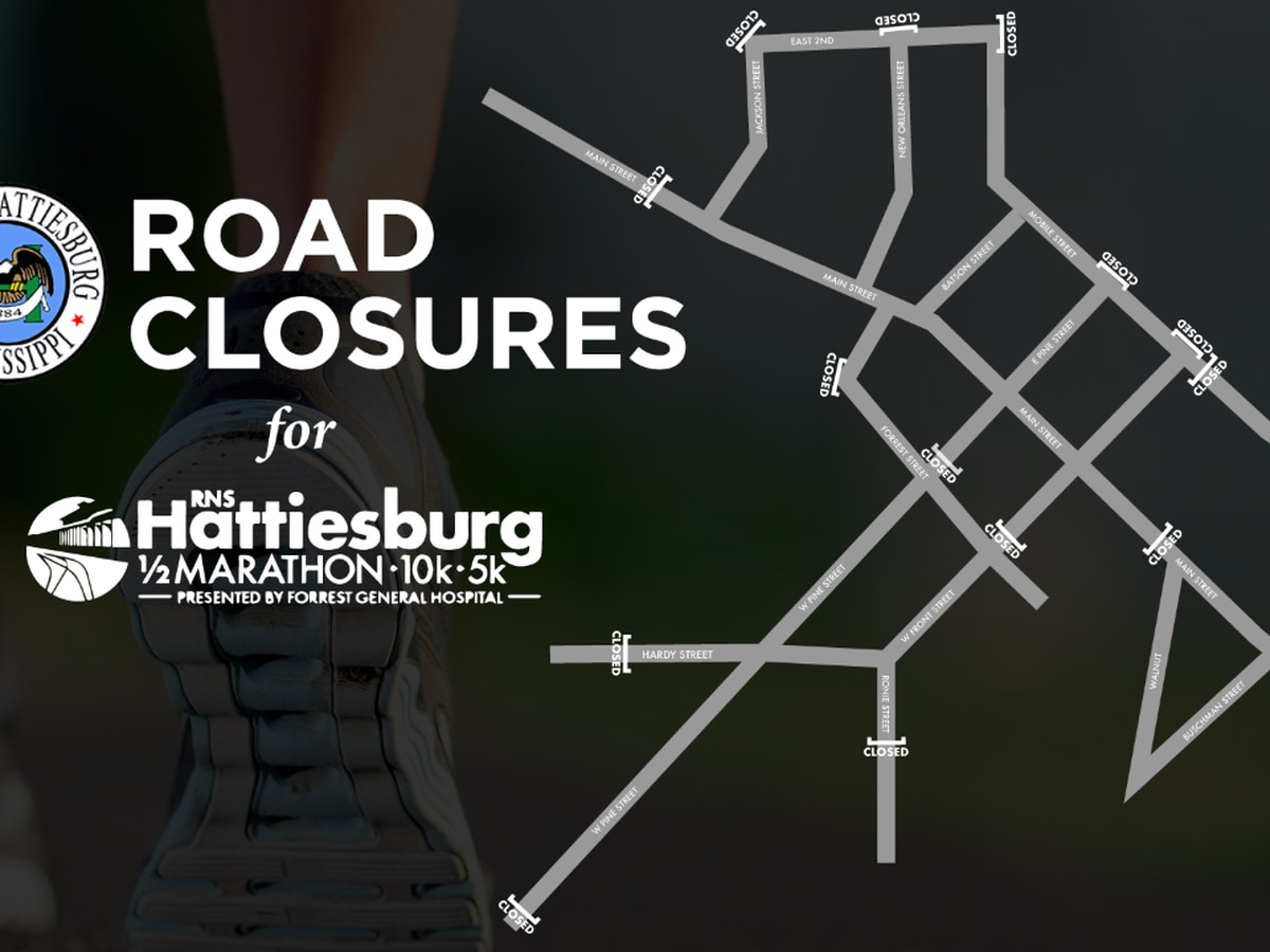 Roads to close for Hattiesburg Half Marathon, 10K and 5K