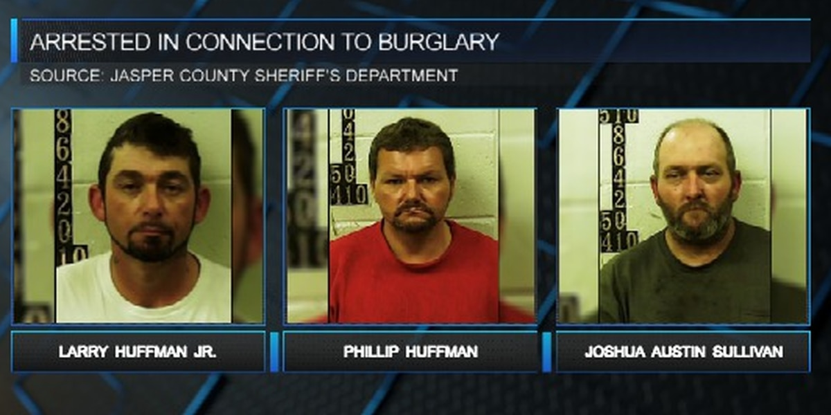 Three arrested for January burglary of Vossburg Community home