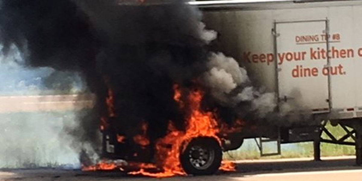 Food truck catches fire on Hwy. 98, no injuries
