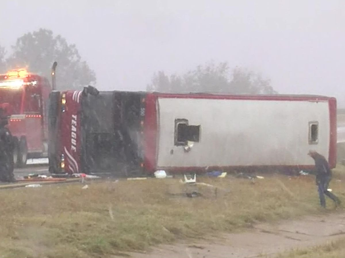 Victims identified after Tunica-bound tour bus overturns on slick Mississippi highway