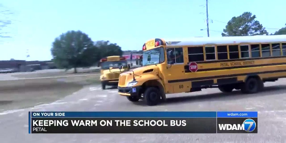 School buses keeping kids warm