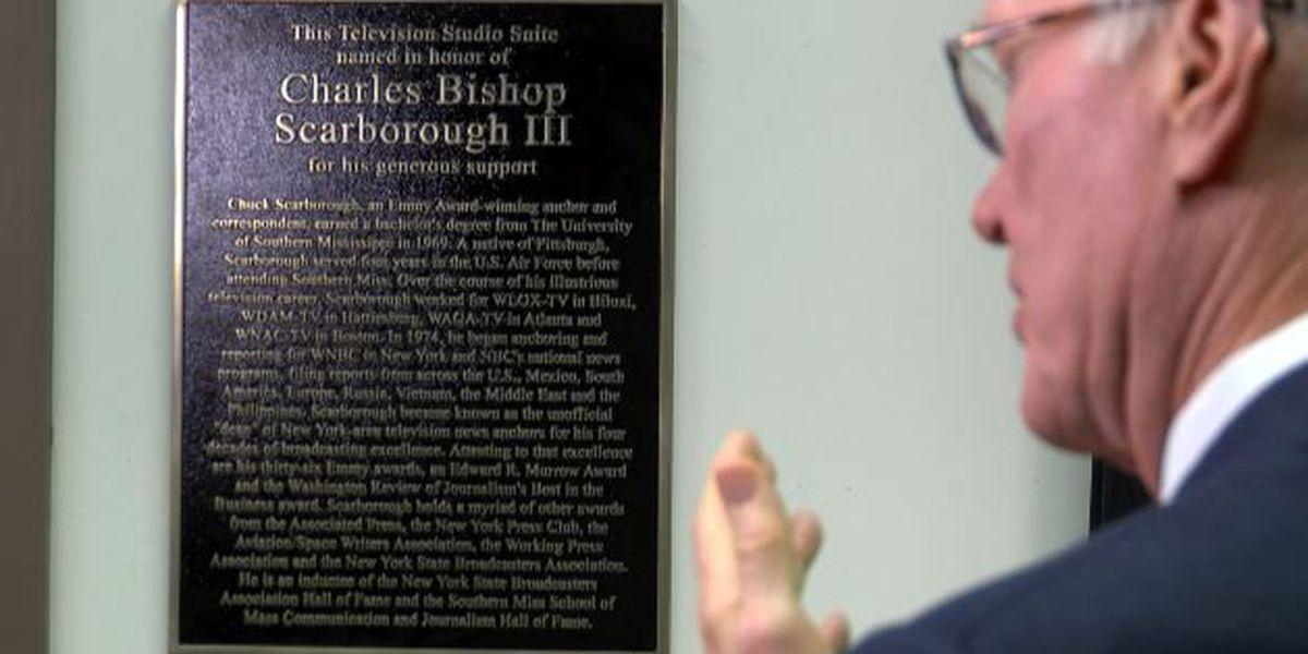 USM dedicates TV suite for NBC anchor, alumnus Chuck Scarborough
