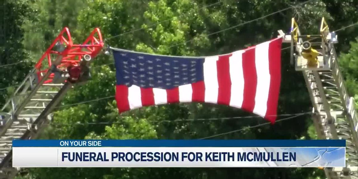 Funeral procession held for Keith McMullen