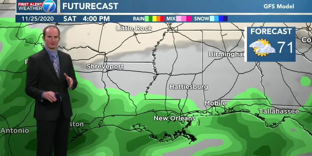 Nice Thanksgiving with chance for rain early in day