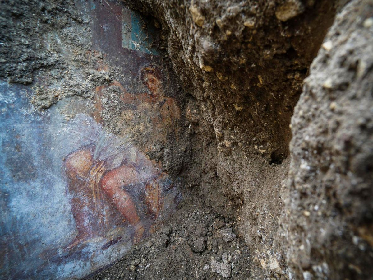 Sensual goddess fresco discovered in ancient Pompeii bedroom